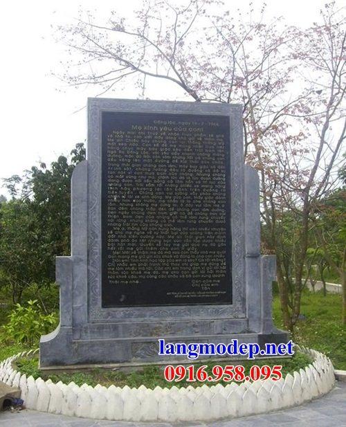 Mẫu bia ghi danh khu di tích đình đền chùa bằng đá tự nhiên tại Cao Bằng
