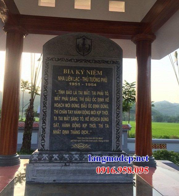 Mẫu bia ghi danh khu di tích đình đền chùa bằng đá thiết kế đẹp tại Cao Bằng