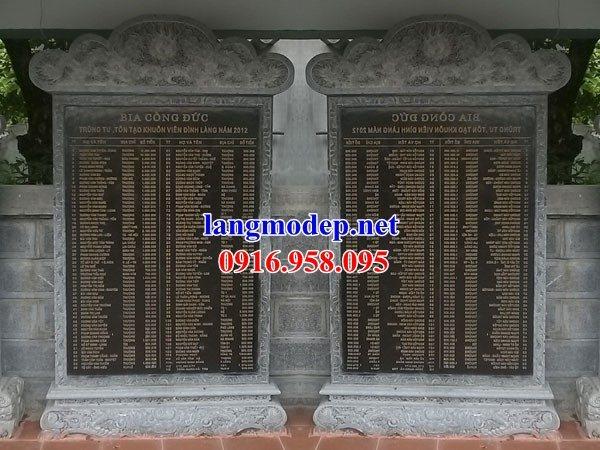Mẫu bia ghi danh khu di tích đình đền chùa miếu bằng đá chạm khắc tinh xảo tại Sóc Trăng