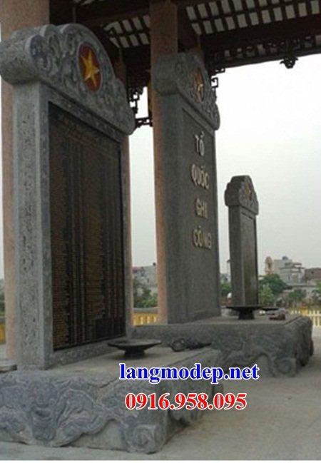 Mẫu bia ghi danh khu di tích đình đền chùa miếu bằng đá kích thước chuẩn phong thủy tại Sóc Trăng