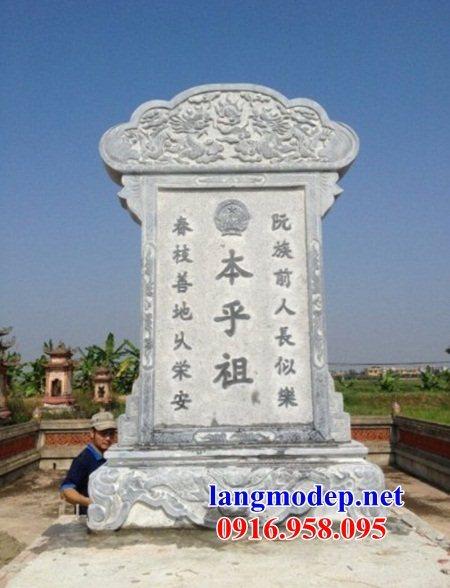 Mẫu bia ghi danh khu di tích nhà thờ họ đình đền chùa miếu khu lăng mộ bằng đá Ninh Bình tại Sóc Trăng