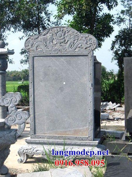 Mẫu bia ghi danh khu di tích nhà thờ họ đình đền chùa miếu khu lăng mộ bằng đá tự nhiên tại Sóc Trăng