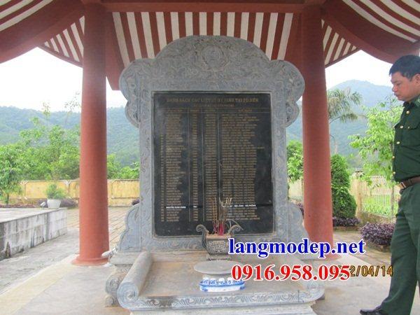 Mẫu bia ghi danh nhà thờ họ từ đường đình đền chùa miếu bằng đá Ninh Bình tại Kiên Giang