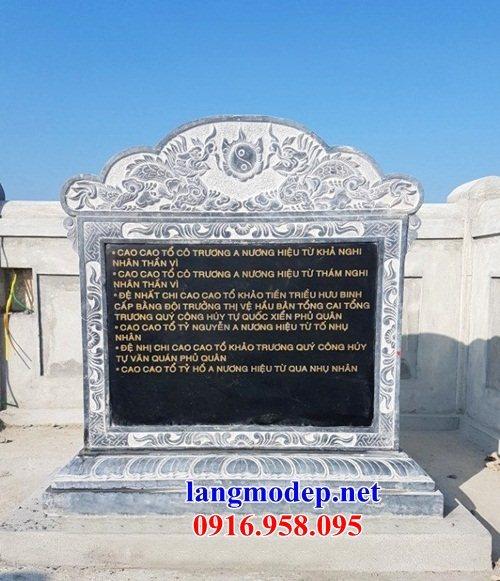 Mẫu bia ghi danh nhà thờ họ từ đường đình đền chùa miếu bằng đá Thanh Hóa tại Hậu Giang
