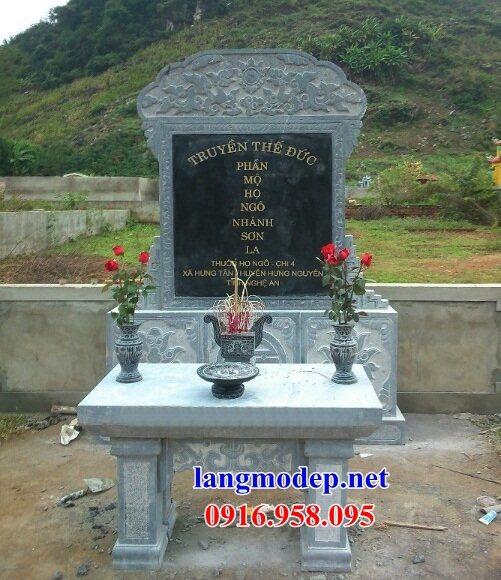 Mẫu bia ghi danh nhà thờ họ từ đường đình đền chùa miếu bằng đá Thanh Hóa tại Kiên Giang