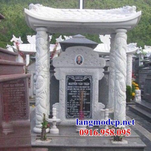 Mẫu bia ghi danh nhà thờ họ từ đường đình đền chùa miếu bằng đá trắng tại Kiên Giang