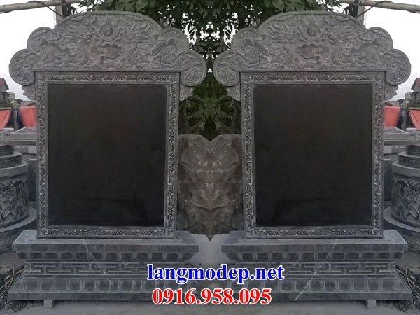 Mẫu bia ghi danh nhà thờ họ từ đường đình đền chùa miếu khu lăng mộ bằng đá tại Hậu Giang