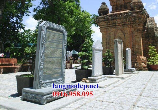 Mẫu bia ghi danh rùa đội bia đình chùa miếu nhà thờ họ bằng đá mỹ nghệ tại Tiền Giang