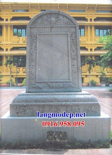 Mẫu bia ghi danh rùa đội bia khu di tích đình chùa miếu bằng đá thiết kế cơ bản tại Trà Vinh