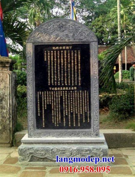 Mẫu bia ghi danh rùa đội bia từ đường nhà thờ họ đình chùa miếu bằng đá Ninh Bình tại Vĩnh Long
