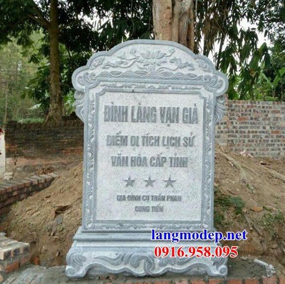 Mẫu bia ghi danh rùa đội bia từ đường nhà thờ họ đình chùa miếu bằng đá thi công lắp đặt tại Vĩnh Long