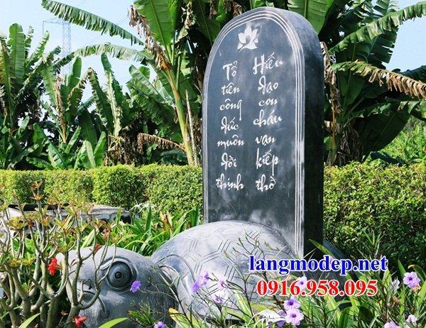 Mẫu bia ghi danh từ đường nhà thờ họ đình chùa bằng đá mỹ nghệ tại Bà Rịa Vũng Tàu