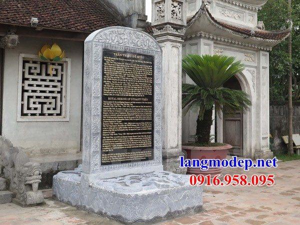 Mẫu bia ghi danh từ đường nhà thờ họ đình chùa bằng đá nguyên khối tại Bà Rịa Vũng Tàu
