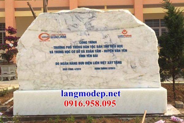 Mẫu bia ghi danh từ đường nhà thờ họ đình chùa bằng đá thiết kế hiện đại tại Bà Rịa Vũng Tàu