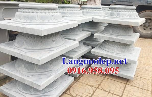 Mẫu chân cột nhà thờ họ đình đền chùa miếu bằng đá Thanh Hóa tại Vĩnh Long