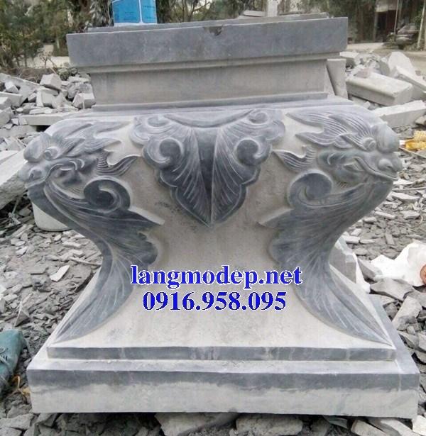Mẫu chân cột nhà thờ họ đình đền chùa miếu bằng đá chạm khắc tinh xảo tại Vĩnh Long