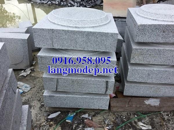 Mẫu chân cột nhà thờ họ đình đền chùa miếu bằng đá nguyên khối tại Vĩnh Long