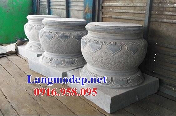 Mẫu chân cột nhà thờ họ đình đền chùa miếu bằng đá tại Vĩnh Long