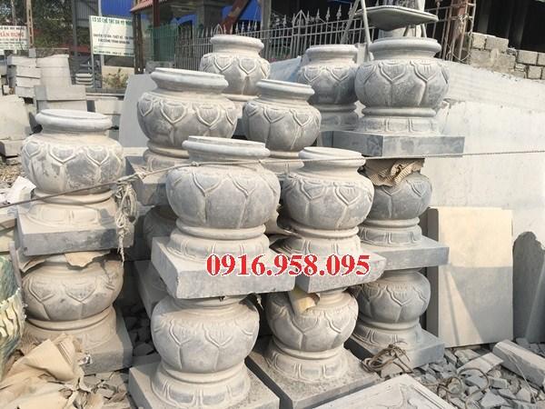 Mẫu chân cột nhà thờ họ đình đền chùa miếu bằng đá thi công lắp đặt tại Vĩnh Long