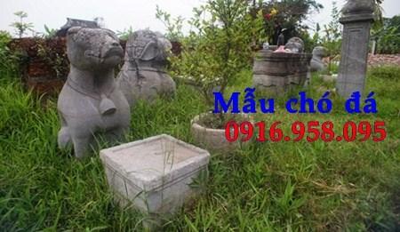 Mẫu chó đá đình đền chùa miếu tại Cà Mau