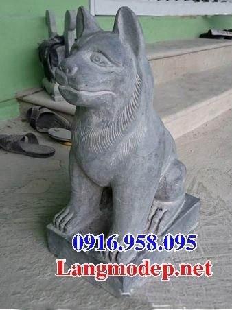 Mẫu chó đình đền chùa miếu bằng đá chạm khắc tinh xảo tại Cà Mau