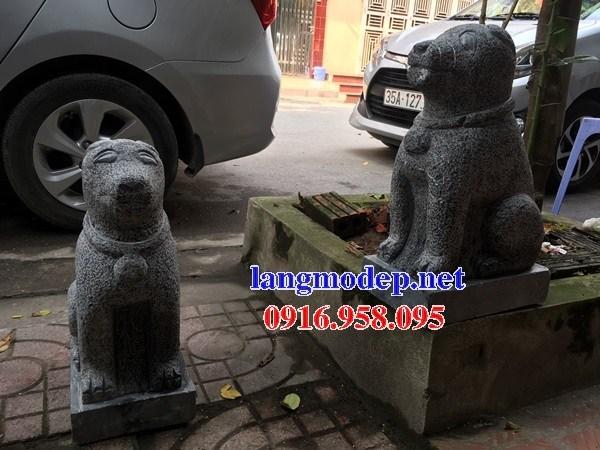 Mẫu chó đình đền chùa miếu bằng đá tại Cà Mau