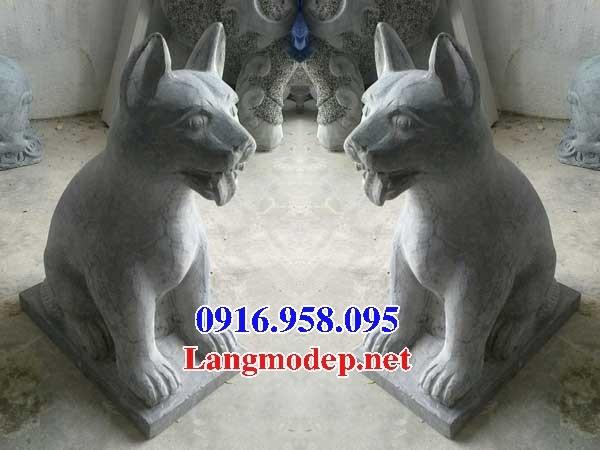 Mẫu chó nhà thờ tư gia đình đền chùa miếu bằng đá kích thước chuẩn phong thủy tại Cao Bằng