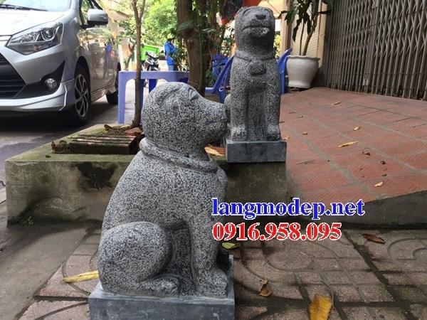 Mẫu chó nhà thờ tư gia đình đền chùa miếu bằng đá nguyên khối tại Cao Bằng