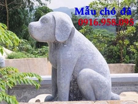 Mẫu chó nhà thờ tư gia đình đền chùa miếu bằng đá thiết kế đẹp tại Cao Bằng