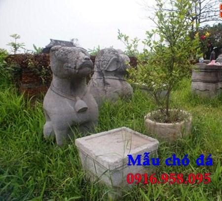 Mẫu chó nhà thờ tư gia đình đền chùa miếu bằng đá thi công lắp đặt tại Cao Bằng