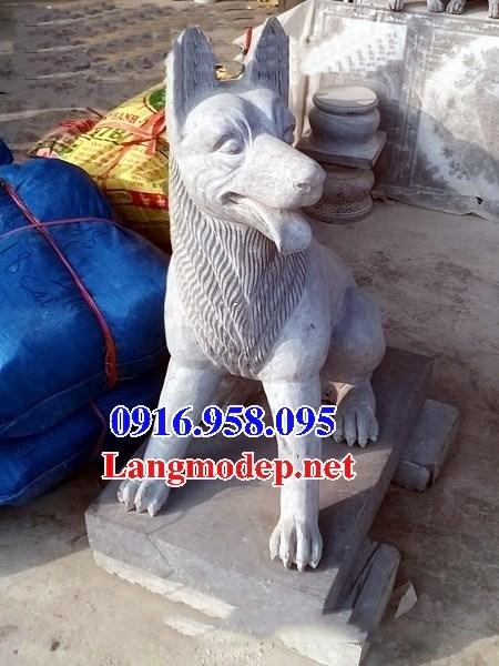 Mẫu chó tư gia đình đền chùa miếu bằng đá thiết kế hiện đại tại Bến Tre
