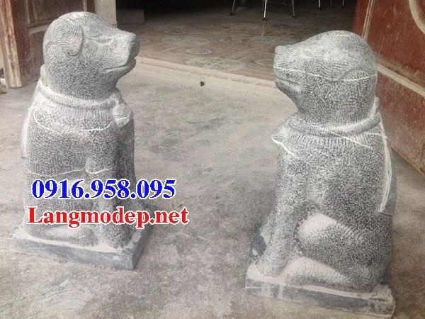 Mẫu chó tư gia đình đền chùa miếu bằng đá thi công lắp đặt tại Bến Tre