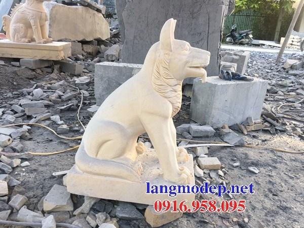 Mẫu chó tư gia đình đền chùa miếu bằng đá vàng tự nhiên tại Bến Tre