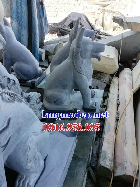 Mẫu chó tư gia nhà thờ họ đình đền chùa miếu bằng đá mỹ nghệ tại Tiền Giang