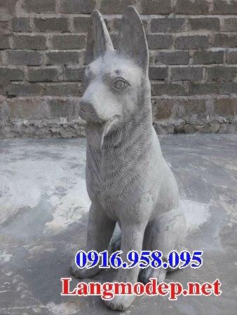 Mẫu chó tư gia nhà thờ họ đình đền chùa miếu bằng đá tại Kiên Giang