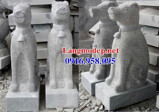 Mẫu chó tư gia nhà thờ họ đình đền chùa miếu bằng đá tại Tiền Giang