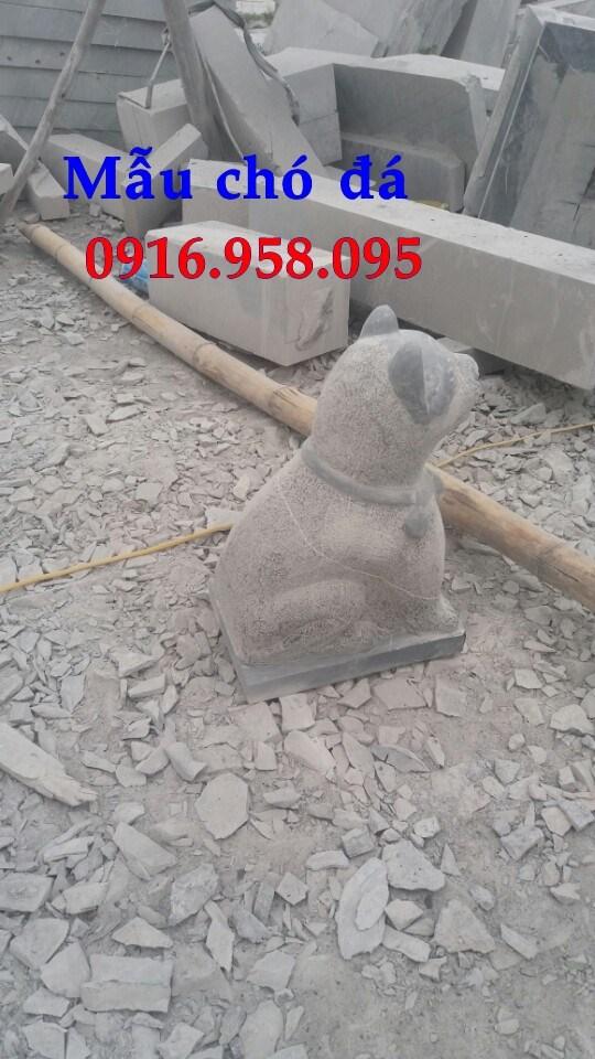 Mẫu chó tư gia nhà thờ họ đình đền chùa miếu bằng đá tự nhiên tại Kiên Giang