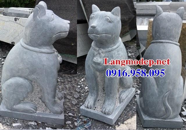 Mẫu chó tư gia nhà thờ họ đình đền chùa miếu bằng đá tự nhiên tại Tiền Giang