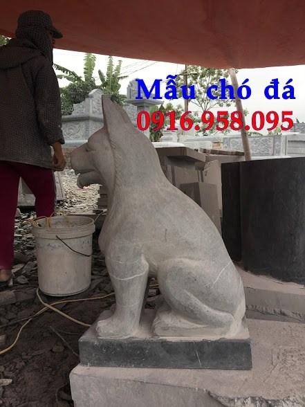 Mẫu chó tư gia nhà thờ họ đình đền chùa miếu bằng đá thiết kế đẹp tại Tiền Giang