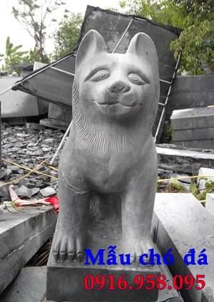 Mẫu chó tư gia nhà thờ họ đình đền chùa miếu bằng đá thi công lắp đặt tại Kiên Giang