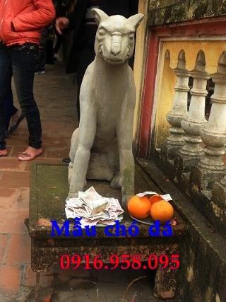 Mẫu chó tư gia nhà thờ họ đình đền chùa miếu bằng đá thi công lắp đặt tại Tiền Giang