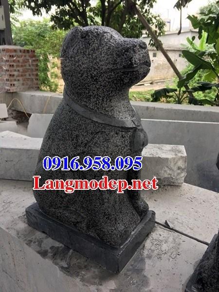 Mẫu chó tư gia từ đường đình đền chùa miếu bằng đá Thanh Hóa tại Trà Vinh