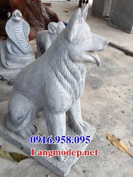 Mẫu chó tư gia từ đường đình đền chùa miếu bằng đá chạm khắc tinh xảo tại Bà Rịa Vũng Tàu
