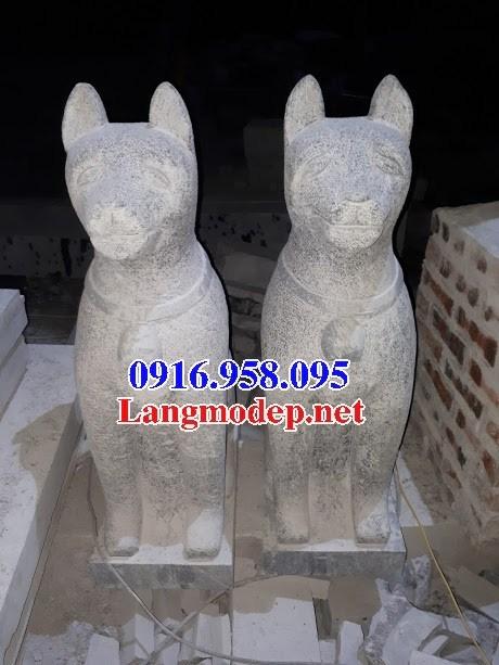 Mẫu chó tư gia từ đường đình đền chùa miếu bằng đá kích thước chuẩn phong thủy tại Ninh Bình