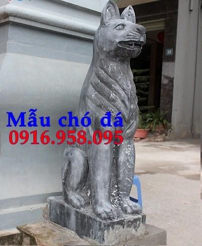 Mẫu chó tư gia từ đường đình đền chùa miếu bằng đá tại Bà Rịa Vũng Tàu