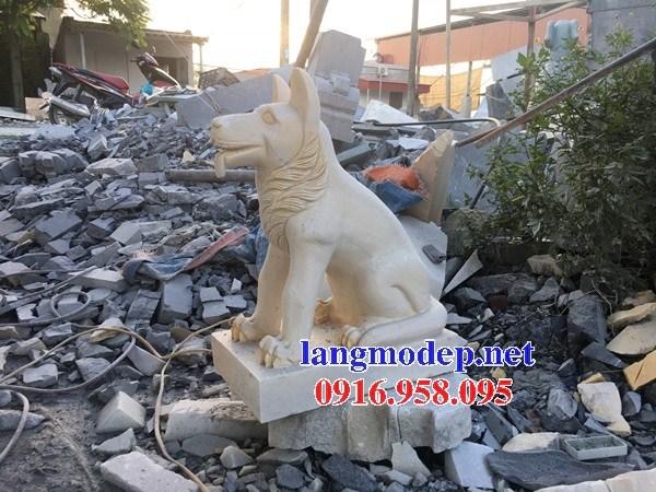 Mẫu chó tư gia từ đường đình đền chùa miếu bằng đá tại Ninh Bình