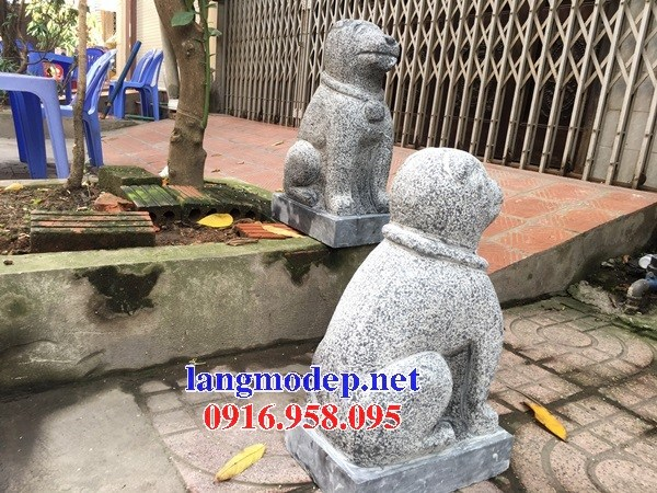Mẫu chó tư gia từ đường đình đền chùa miếu bằng đá thiết kế đẹp tại Ninh Bình