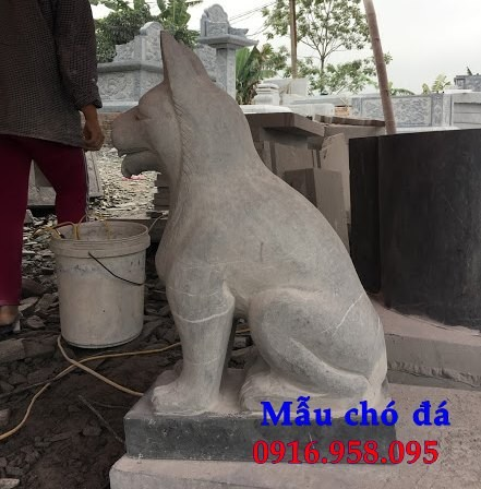 Mẫu chó tư gia từ đường đình đền chùa miếu bằng đá thiết kế đẹp tại Trà Vinh