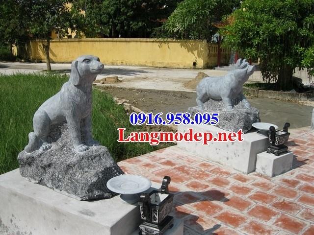 Mẫu chó tư gia từ đường đình đền chùa miếu bằng đá thiết kế cơ bản tại Bà Rịa Vũng Tàu