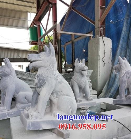 Mẫu chó tư gia từ đường đình đền chùa miếu bằng đá thiết kế hiện đại tại Bà Rịa Vũng Tàu